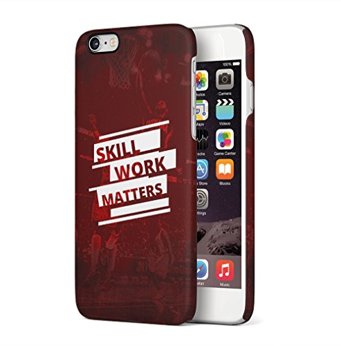Basketball Arena Pattern Apple iPhone 6 / iPhone 6S SnapOn Hard Plastic Phone Protective Custodia Case Cover Skill Matters