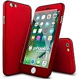 iPhone 6s 360 Grad Fullbody Hülle, Schutzhülle, Case und Panzerglas [ Rot ] iPhone 6s / 6