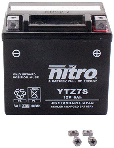 Preisvergleich Produktbild NITRO YTZ7S -N- Batteries, Schwarz (Preis inkl. EUR 7,50 Pfand)