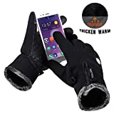 Thermal Gloves, Cycling Gloves Winter Touch Screen Gloves,Think Warm Waterproof for Winter Cycling Gardening, Builders, Mechanic