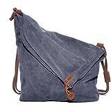 Crazy Horse Hide ragazze Shoulder Bag Borsa della borsa di tela multifunzionale incline viaggio retrò tempo libero