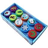 Toyvian 10 pièces Noël Tampon Encre en Plastique Loisirs créatifs et décorations de Noël pour Enfants