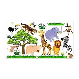 Wandtattoo Fürs Kinderzimmer, Baby. Sticker Aufklebr Tiere, Safari - SDB1 (XXL - 200 x 112 cm)