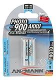 ANSMANN wiederaufladbar Akku Batterie Micro AAA 900mAh NiMH hochkapazitiv Hohe Kapazität ohne Memory-Effekt Profi Digital Kamera-Akkubatterie 2er Pack