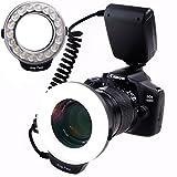 Ringblitz für Canon Nikon Panasonic Olympus Pentax SLR Kameras - Yeeteem 18 Makro LED Ring...