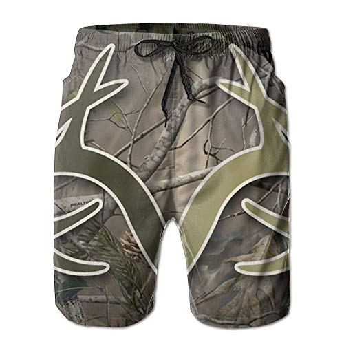 Nisdsh Realtree Camo Wallpapers Men Quick Dry Stripe Swim Trunks Mesh Lining Beach Shorts with Adjustable Pull Cord XX-Large Custom Fit Mesh Rugby