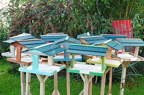 Vogelhaus,groß-XXL,DACH DUNKEL-GRÜN / Vogelhaus,wetterfest IN ANTHRAZIT (SCHWARZLASUR),HI-VIERDAORI-at001 NEU ,Vogelhäuser+Vogelhausständer KLASSIK-PREMIUM Vogelhaus,Vogelfutterhaus, Vogelfutterhaus MIT-Futterstation Farbe schwarz lasiert,anthrazit / Holz natur,Ausführung Naturholz MIT WETTERSCHUTZ-DACH - 4