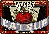 qidushop 1883 Heinz's Catsup - Cartel de Metal de Aluminio para decoración de Pared para Hombre, 30 x 45 cm