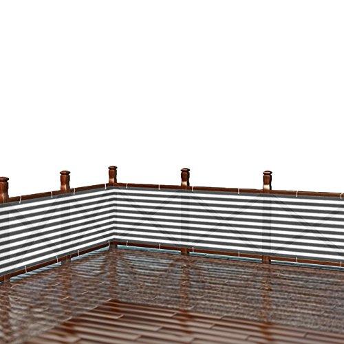 Caiyuangg Balkonumspannungen Balkonverkleidung Sichtschutz 500×900cm Draussen Hinterhof-Fechten Datenschutz Windschutzscheibe HDPE-Gewebe mit Kabelbindern