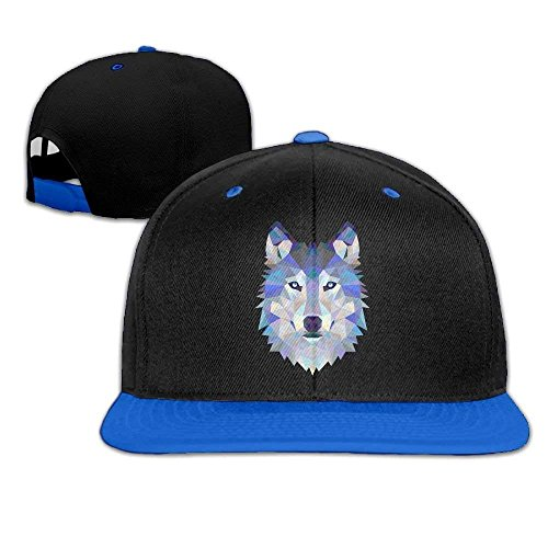 Xukmefat Unisex Wolf Animals Lover Funny Logo Cotton Snapback Hip Hop Flat Tongue Hats Adjustable Baseball Caps ()