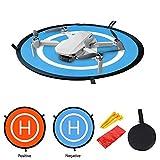JSxhisxnuid Drone Landing Pad Impermeabile 55cm Atterraggio Pieghevole Portatile per DJI Mavic Mini, Mavic 2 /PRO/Mavic Air/Spark Drone