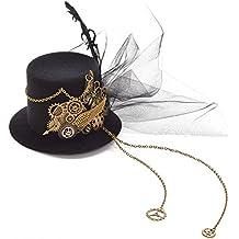 BLESSUME gotisch Frau Steampunk Gang Flügel Uhr Schmetterling Hut Spitze Haar Clip Kopfbedeckung