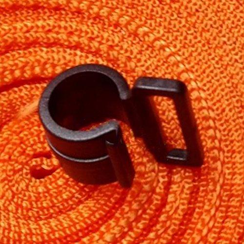 AOTUOTECH 50 Stück/Lot Kunststoff Innenzelt Haken Markise Zeltstangen Zeltaufhängung Rahmen Innenhaken Durable C Clip
