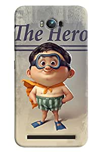 Blue Throat Cartoon The Hero Printed Designer Back Cover/Case For Asus Zenfone Max