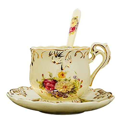 Stile Pastorale Europeo Tazza Di Caffè In Ceramica Set, 1 Tazza 1 Singoli,HH