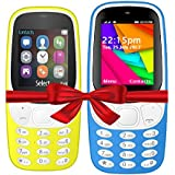 I KALL K3310 (Yellow) And K35(Light Blue) Combo Of Dual Sim Mobile With 101 Days Replacement Warranty With 1 Year Manufacturer Warranty
