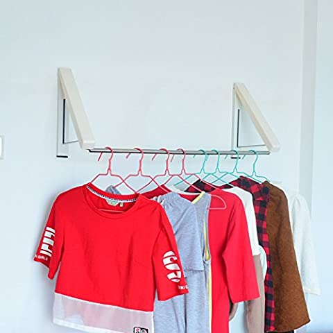 Retractable Clothes Hanger Laundry Drying Rack,Adjustable Wall Mounted Hanger for Balcony,A Full Range of Dry Clothes for Winter