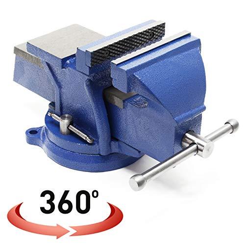 Tornillo de banco 100/mm uso Intenso Tornillo Industrial para taller y banco de trabajo con base giratoria A 360//° para Rosca aserr/ín fresado soldadura
