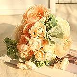 Mitlfuny-> Haus & Garten -> Wohnkultur,Mehrfarbige Phantom Rose Pfingstrose TOP Seidenblumen Bouquet Single Decor Hochzeit
