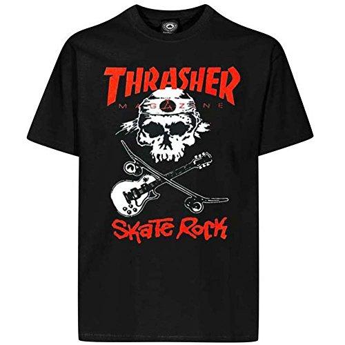 Thrasher rollers t-shirt rock (noir) -  Noir - Medium