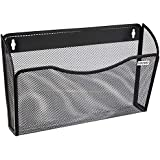 Amazon Brand - Solimo Mesh Wall Hanging Files and Paper Holder (Black)