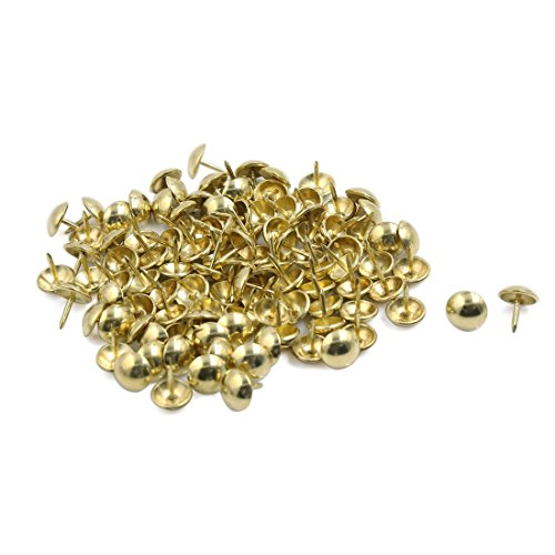 Stahl Corkboard Foto Pushpin Thumb Tacks 11mm Dia Gold100pcs Ton Tack Ton