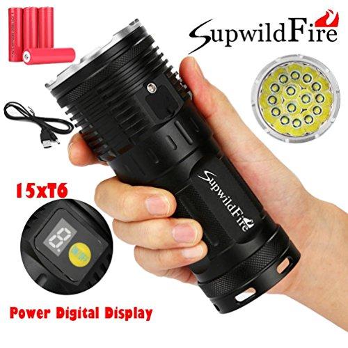 Wasserdicht 5000 LM CREE XM-L XML T6 LED Taschenlampe Lampen Flashlight Schwarz