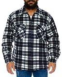 Herren Thermohemd gefüttert Arbeitshemd Jacke - mehrere Farben ID531, Größe:3XL;Farbe:Grau