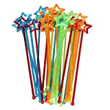 Dealglad® 30 pcs Mixed-color Plastique Motif étoile Cocktail Drink agitateurs Touillette
