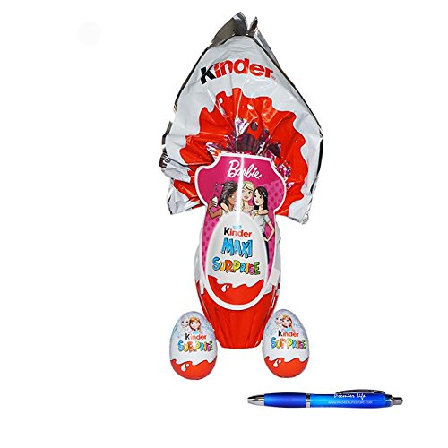 kinder-surprise-eggs-with-barbie-and-frozen-easter-collection-plus-free-premier-life-store-pen