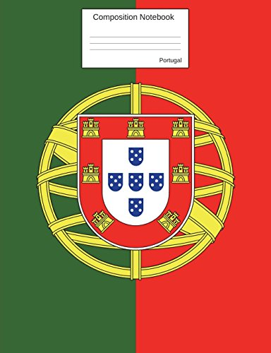 Portugal Composition Notebook: College Ruled Portuguese Flag Journal to write in for school, take notes, for kids, students, portuguese teachers, homeschool (Football Flag Red)