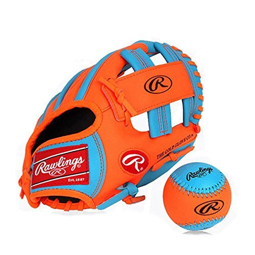 Rawlings Baseball Gloves & Mitts for kids (blue+orange, 11 inch) 11-zoll-mitt