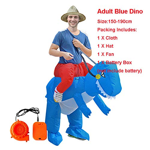 Einhorn Fahrt Kostüm - GAOGUAIG AA Aufblasbare Erwachsene Fahrt Auf Fuß Einhorn Dinosaurier Tier Cosplay Kostüm Blowup T-REX Halloween Kostüm Disfraces Frauen Männer SD (Color : Onecolor, Size : Onesize)