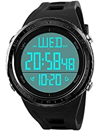eb147b58bb5d Men Digital Watch,COOLANS Gents Boys Military Digital Fashion Sports Watch  LED Back Light 50M Waterproof Big Face Watches With Resin…