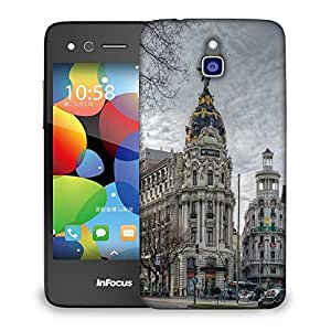 Snoogg Angel Building Designer Protective Phone Back Case Cover For Infocus M2