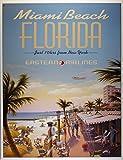 Blechschild Miami Beach 41x32 cm