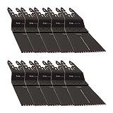 10 KROP Multi Tool Blades Quick Release 65mm Precision Wood fits DeWalt Black & Decker Stanely FatMax Worx Sonicrafter Hyperlock.