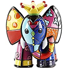 Romero Britto Mini Figur - Prinz Elefant - Pop Art aus Miami - gelb #334445