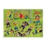 * Fussball Mädchen * Fensterbilder in DIN A4 von Lutz Mauder // Bunte Klebebilder für das Fenster Sticker Geschenke Basteln Spielen Kleben Girls Fussballerin