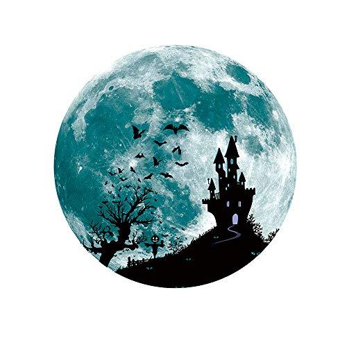 Leuchtaufkleber Mond Leuchtsticker Fluoreszierende Aufkleber 30x30cm Wanddeko Wandaufkleber 3D Wandsticker Wand Dekoration Wohnzimmer Hausdekoration Wandgemälde Rovinci ()