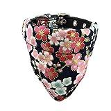 Newtensina Doux Bandana Collier de Chien Classique Fleur Sakura désign Mignonne...