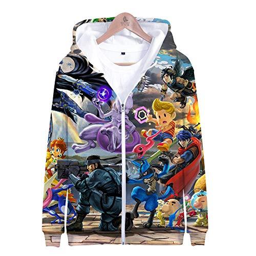 Smash Alle Kostüm Bros - Kapuzenpullover,Super Smash Bros Man Beiläufige Hoodies Pullover Langarm 3D Pullover Sweatshirts Lust auf Hoodie mit @ Anime_3XL