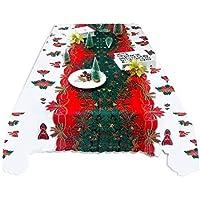 beautygoods Weihnachten Tischdecke, Weihnachtsmann Butterfly Muster Rechteckige Tischdecke Für Hotel, Restaurant, Home Dinning Raum Weihnachtsfeier Dekoration (59 x 70 Zoll Ungefähr)