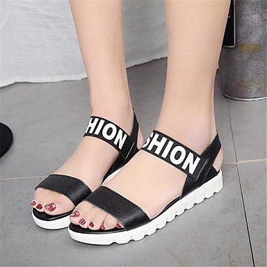 RTRY Donna Sneakers Comfort Pu Molla Canvas Informale Comfort Bianco Nero Piatto Noi6.5-7 / Eu37 / Uk4 5-5 / Cn37 US6.5-7 / EU37 / UK4.5-5 / CN37