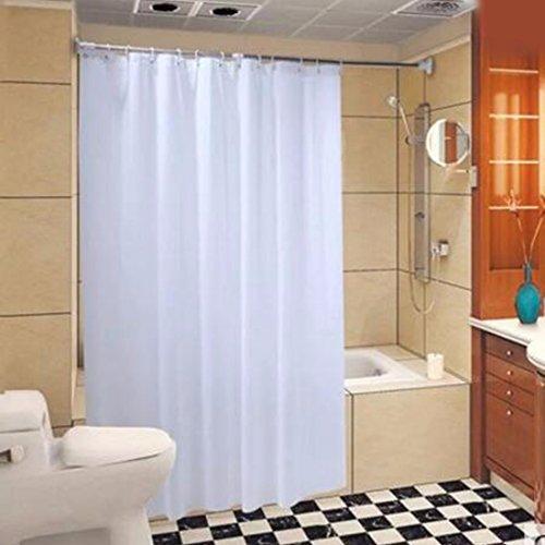 QPGGP-Rideau De Douche Un Tissu Épais Rideau De Douche En Rideau De Blanc Moisissure Envoie Crochet Rideau Rideaux Toilettes Étanches,200 X 200 CM (W X H)