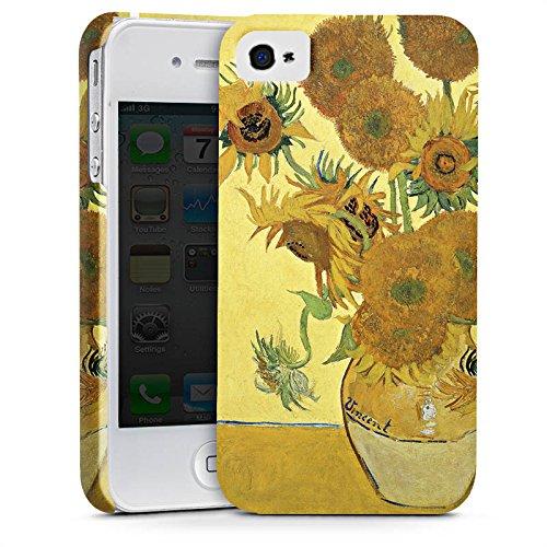 Apple iPhone 6s Hülle Case Handyhülle Vincent van Gogh Sonnenblumen Kunst Premium Case glänzend
