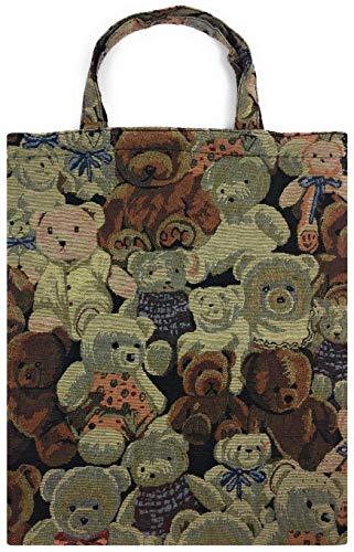 robuste Canvas-Einkaufstaschen Tasche Beutel Bag Jute Stoff Shopper Henkel Trage Einkäufe Teddybär - Robuste Canvas Taschen
