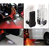 JDWG 1 Paire de voiture de LED Door Projector Lamp Fantôme Ombre Bienvenue Laser Light Kit Courtesy Logo pour AUDI A1 A3 A4 A5 A6 A8 Q5 Q7 TT R8 A4L nouveau A6L