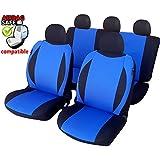 kmhsb603–Asiento Puf Set Negro/Azul de asiento con airbag páginas para Peugeot 307, 308, 406, 407, 607, 308, 508