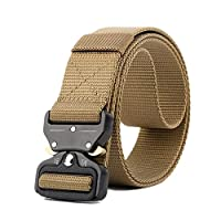 "VOCHIC Tactical Belt Heavy Duty Sturdy Nylon Military Style Army Web Belt for Men Waist: 30""-41"""
